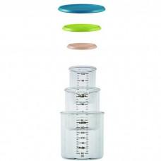 Beaba Набор контейнеров для хранения blue/neon/nude / SET OF 3 PORTIONS