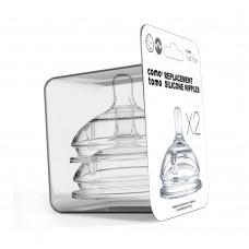Набор сосок для бутылочки Comotomo с быстрым потоком (6+мес.)