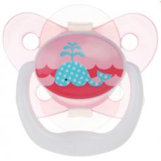 Dr.Brown's Пустышка силиконовая ортодонтическая ''Бабочка'' розовая PreVent 0-6мес