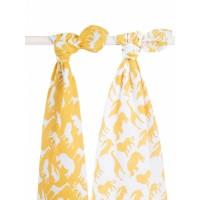 Jollein Комплект муслиновых пеленок 115х115 см, 2 шт, Safari