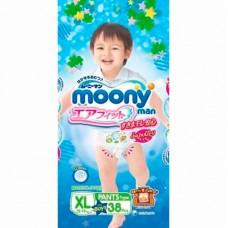 Трусики Moony для мальчиков 12-17 кг. 38 шт. (XL)