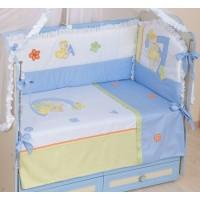 """Комлект Комплект постельного белья для новорожденного """"Азбука"""" (Салатовый)"""