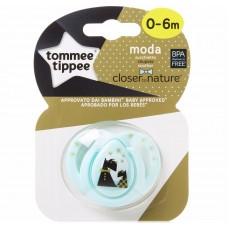 TOMMEE TIPPEE пустышка силиконовая Moda, 0-6 мес., 2 собачки (Голубая)