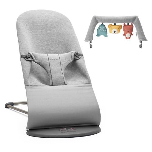 Кресло-шезлонг BabyBjorn Bliss в комплекте с игрушкой