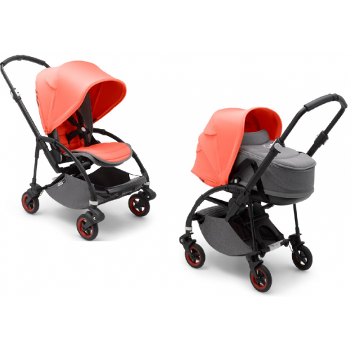 Bugaboo Коляска 2 в 1 Bee5 BLACK/ CORAL complete