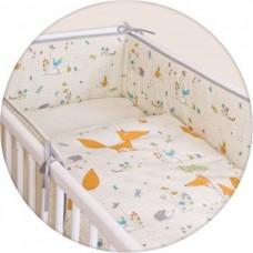 Постельное белье Ceba Baby (Себа Беби) 3 пр. Fox ecru Lux принт W-800-059-170_1