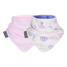 Комплект нагрудников Cheeky Chompers Neckerbib розовые полоски/радуга, 2 шт.