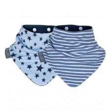 Комплект нагрудников Cheeky Chompers Neckerbib синие звезды/синие полосы, 2 шт.