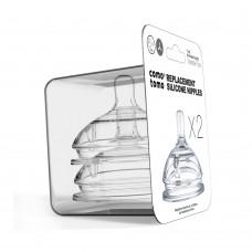 Набор сосок для бутылочки Comotomo с переменным потоком (6+мес.)