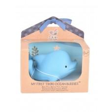 Игрушка прорезыватель/для ванны из каучука Tikiri Дельфин в подарочной упаковке