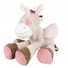 Игрушка мягкая Nattou Soft toy (Наттоу Софт Той) Nina, Jade & Lili Единорог 75 см 987035