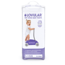Трусики-подгузники Lovular HOT WIND L (9-14 кг) 44 шт/уп