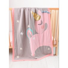 Одеяло Bizzi Growin (Биззи Гровин) Unicorn вязаное 70*90 BG006