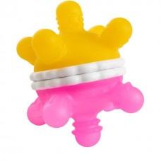 Munchkin игрушка-прорезыватель Мячик розовый/желтый 6+