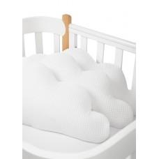 Набор бортиков на кроватку, 3 шт. white
