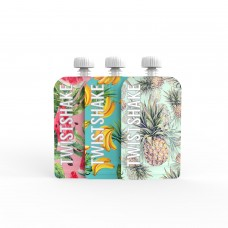 Набор многоразовых пакетов (3 шт) Twistshake для детского питания (Squeeze Bag) 100 мл. 4+
