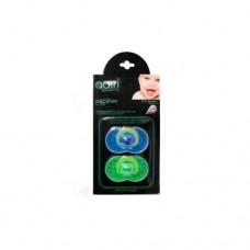 Пустышка Adiri Heart Pacifiers (2 шт), размер 1, 0-6 мес., blue and green, цвет синий-зеленый