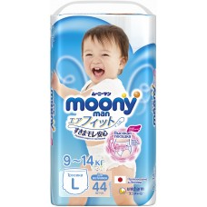 Подгузники-трусики Moony, для мальчиков, L (9-14 кг), 44 шт