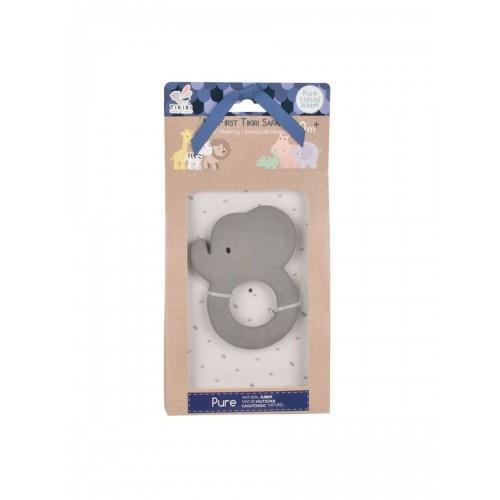 Игрушка-прорезыватель из натурального каучука Tikiri Слон