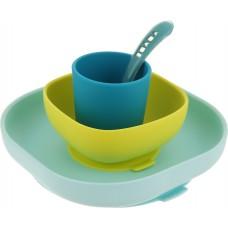 Набор посуды для кормления Beaba Silicone Meal Set, размер 183 х 90 х 185 мм.