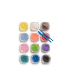 Масса для лепки застывающая, 12 цветов