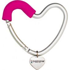 Крепление для сумок Buggygear (Багги Гир) Сердечко silver/