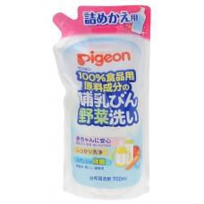 PIGEON Средство для мытья детской посуды и овощей, сменный блок, 700мл.