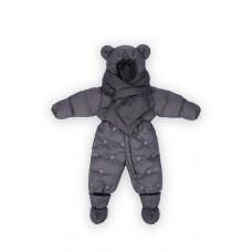 Комбинезон детский с шарфом Темно-синий / dark navy, рост