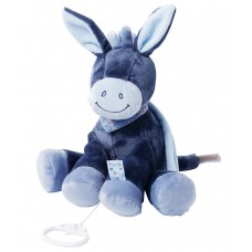 Игрушка мягкая Nattou Musical Soft toy (Наттоу Мьюзикал Софт Той) Alex & Bibou Ослик музыкальная 321051