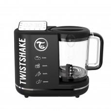 Пароварка-блендер 6 в 1 для приготовления детского питания Twistshake (Food Processor), цвет черный