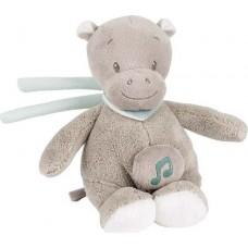 Игрушка мягкая Nattou Musical Soft toy MINI Loulou, Lea & Hippolyte Бегемот музыкальная 963107