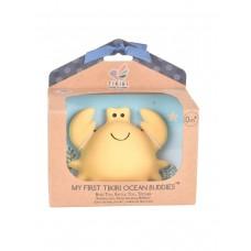 Игрушка прорезыватель/для ванны Tikiri из каучука Краб в подарочной упаковке
