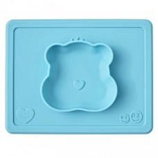 Ezpz Тарелка с подставкой Happy Bowl Care Bear Edition Teal, бирюзовый