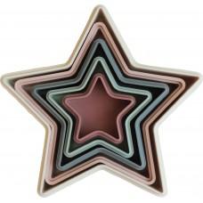 Пирамидка-формочки Mushie звезды