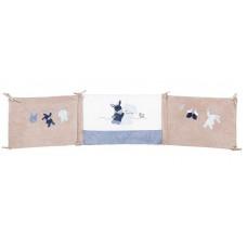 Бортик Nattou (Наттоу) Alex & Bibou Ослик и Кролик для кровати универсальный 321389