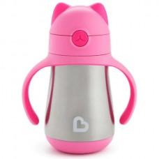 Munchkin поильник Cool Cat ™ с трубочкой розовый  240мл. 18+ NEW