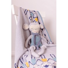 Одеяло Bizzi Growin (Биззи Гровин) Сheeky Monkey 75*100 вязанное BG019