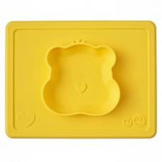 Ezpz Тарелка с подставкой Happy Bowl Care Bear Edition Marigold, желтый