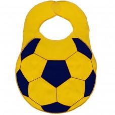 """Нагрудник Sevi Baby """"Футбольный мяч"""", цвет: желтый, синий, 23 см х 32 см"""