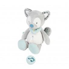 Игрушка мягкая Nattou Musical Soft toy (Наттоу Мьюзикал Софт Той) MINI Tim & Tiloo Волк музыкальная 498081
