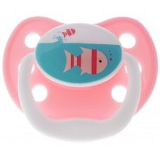 Dr.Brown's Пустышка PreVent Классик Рыбки от 12 месяцев, цвет розовый