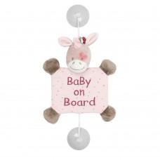 Игрушка мягкая Nattou Знак Baby on board (Наттоу) Nina, Jade & Lili Единорог 987370