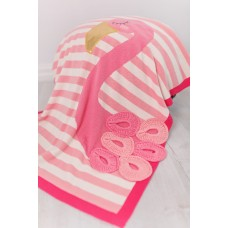 Одеяло Bizzi Growin (Биззи Гровин) Flamingo 70*90 с аппликацией BG025