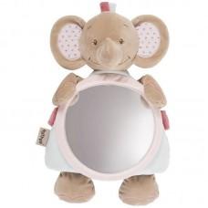 Мягкая игрушка  Nattou Зеркало Mirror for car (Наттоу) Charlotte & Rose Слоник 655330