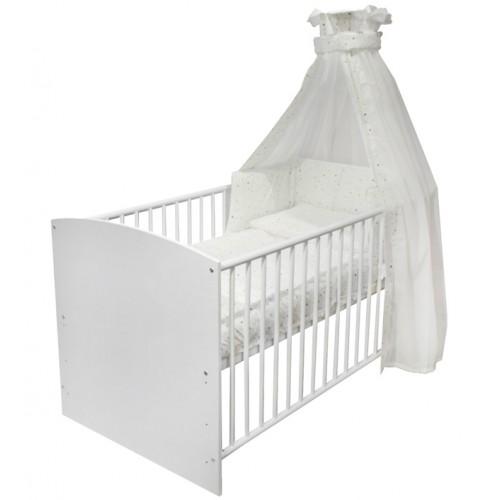 Детская кровать-трансформер Schardt Classic 4-в-1, белый/золотые звезды