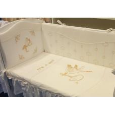 """Комлект постельного белья для новорожденного """"Аист"""""""