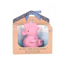 Игрушка прорезыватель/для ванны из каучука Tikiri Морской Конек в подарочной упаковке