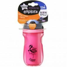 TOMMEE TIPPEE термочашка Explora с мягким носиком (розовая)